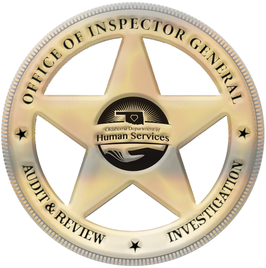 Badge: Office of Inspector General; Investigation, Audit & Review.